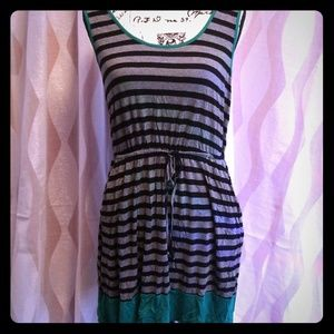 Striped jersey knit Dress